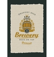 beer on tap label vector image vector image