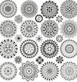 Big set of mandalas vector image vector image