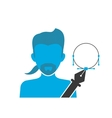 blue icon vector image vector image