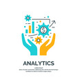 business analytics and vector image vector image
