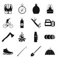 Camping simple icons vector image vector image