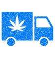 Cannabis Delivery Van Grainy Texture Icon vector image vector image