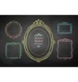 Chalk drawn vintage frames vector image