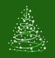 christmas tree sparkle made of shiny stars vector image