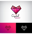 chrystal heart icon jewelry logo Love vector image