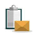clipboard and envelope design vector image