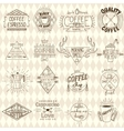 collection hipster sketchy coffee labels vector image vector image