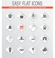 Collection of halloween icons set vector image vector image