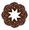 color card with mandala vector image vector image