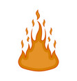 comic fire icon image vector image vector image