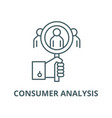 consumer analysis line icon linear concept vector image vector image