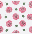 dahlia flower pattern vector image vector image