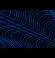 dark curved lines waves abstract background vector image vector image