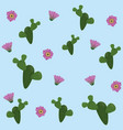 desert flowers background vector image