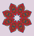 ethnic icon symmetri pattern in red color vector image