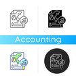 financial report icon vector image
