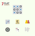 flat icon play set of ace xo people and other vector image vector image