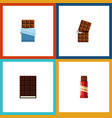 flat icon sweet set of sweet bitter dessert and vector image vector image
