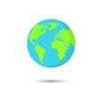 flat planet earth icon vector image