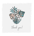 floral hand drawn for invitation vector image