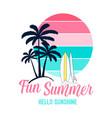 fun summer slogan and hand drawing summer icons vector image vector image