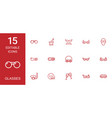 glasses icons vector image vector image