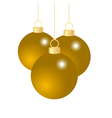 Gold Christmas balls vector image
