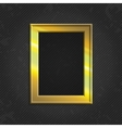 Gold modern picture frame vector image vector image