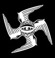 graphic winged all-seeing eye vector image vector image