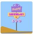Happy birthday road sign vector image