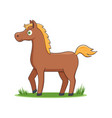happy cartoon horse vector image