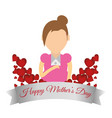 happy mothers day card celebrate party vector image vector image
