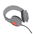 Headphones audio and music vector image