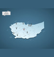 isometric 3d ethiopia map concept vector image