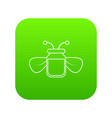 jar of bee honey icon green vector image vector image
