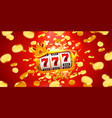King slots 777 banner casino on red banner
