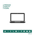 laptop symbol icon vector image vector image
