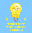 light bulb character vector image vector image