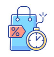 limited-time offer rgb color icon vector image