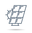 linear icon of solar battery vector image