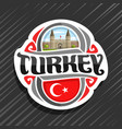logo for turkey country vector image vector image