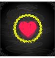 Love Heart Icon on Chalkboard vector image vector image