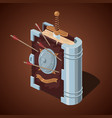 magic battle book cartoon style game design vector image