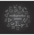Mathematics Hand Drawn Icons Set vector image