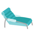medical couch cartoon vector image vector image