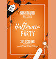 orange halloween party flyer template vector image vector image