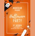 orange halloween party flyer template vector image