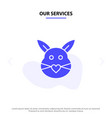 our services rabbit bunny love cute easter solid vector image