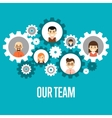 Our team banner Teamwork concept vector image vector image