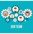 Our team banner Teamwork concept vector image